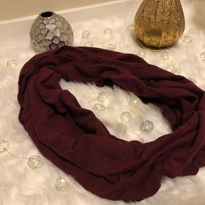 Burgundy Thick infinity scarve